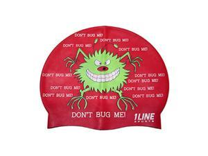 1Line Sports Don't Bug Me Silicone Swim Cap Red