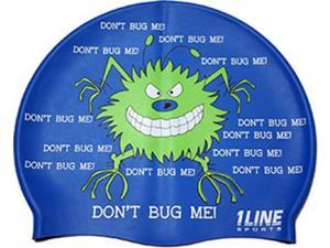 1Line Sports Don't Bug Me Silicone Swim Cap Royal