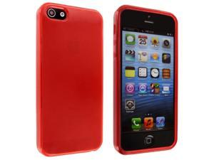 iPhone 5 Red TPU Gummy Case
