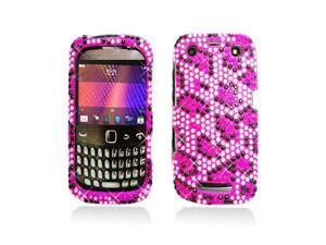 Pink Leopard Diamonds Snap-On Case Cover for Blackberry Curve 9350 / 9360 / 9370
