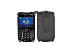 Black Back Cover Case with Black Holster for Blackberry Curve 8520 8530 Curve 3G