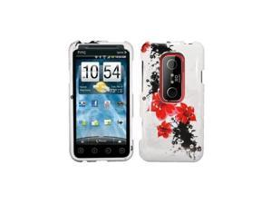 Red Lily Design Snap-On Hard Case Cover for HTC Evo 3D  /  Evo V