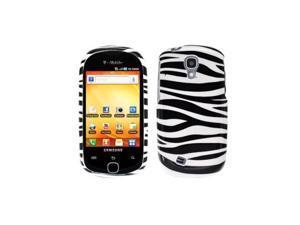Black White Zebra Design Snap-On Hard Case Cover for Samsung Gravity Smart T589