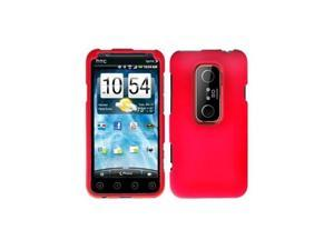 Red Snap-On Hard Case Cover for HTC Evo 3D  /  Evo V
