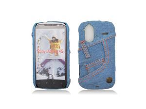 Light Blue Jeans Back Cover Hard Case for HTC Amaze 4G / Ruby