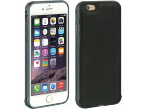 """For iPhone 6 / 6S (4.7"""") Black Leather Back Slide In Hard Cover Case"""