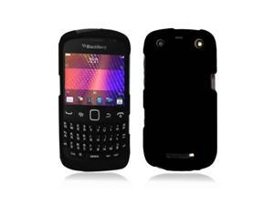 Black Snap-On Hard Case Cover for Blackberry Curve 9350 / 9360 / 9370