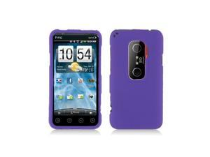 Purple Snap-On Hard Case Cover for HTC Evo 3D  /  Evo V