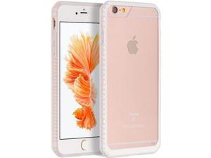 """For iPhone 6 / 6S Plus 5.5"""" Clear Back White TPU Frame Fusion Candy Cover Case"""