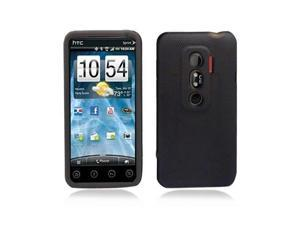 Black Hybrid Hard Case Cover with Smoke Silicone Inner Case for HTC Evo 3D Evo V