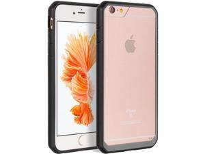 For iPhone 6/6S Plus 5.5 Clear Back Black Grey TPU Frame Fusion Candy Cover Case