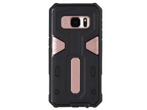 For Samsung Galaxy S7 Edge RoseGold Hybrid Black TPU Excalibur Series Cover Case