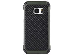 For Samsung Galaxy S7 Army Green Black Tough Hybrid W/ Carbon Design Case Cover
