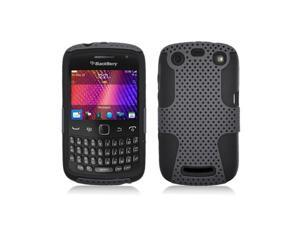 Grey With Black Hybrid Hard Case Cover for Blackberry Curve 9350 / 9360 / 9370