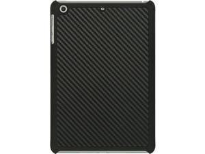 For iPad Mini 3 Black Carbon Fiber Design Hybrid w/ Black TPU Border Cover Case