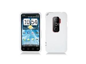 White Snap-On Hard Case Cover for HTC Evo 3D  /  Evo V