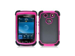 Pink Hybrid Hard Case with Black Silicone Inner for Blackberry Torch 9800 9810