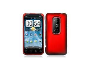 Dark Red Snap-On Hard Case Cover for HTC Evo 3D  /  Evo V