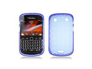 Purple Crystal Plaid Pattern TPU Case Cover for  Blackberry Bold Touch 9900 9930