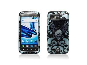 Black and Blue Skulls Design Snap-On Hard Case Cover for Motorola Atrix 2 Mb865