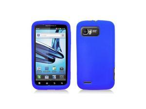 Blue Silicone Skin Cover Case for Motorola Atrix 2 Mb865