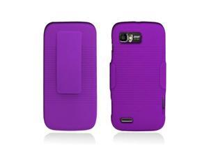 Purple Back Cover Case + Holster with Clip and Stand for Motorola Atrix 2 Mb865
