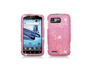 Pink Full Diamond Snap-On Hard Case Cover for Motorola Atrix 2 Mb865