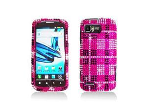 Pink Diamond Plaid Pattern Snap-On Hard Case Cover for Motorola Atrix 2 Mb865