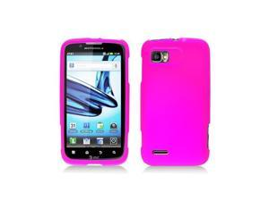 Pink Silicone Skin Cover Case for Motorola Atrix 2 Mb865