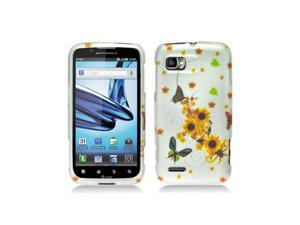 Sunflowers Design Snap-On Hard Case Cover for Motorola Atrix 2 Mb865