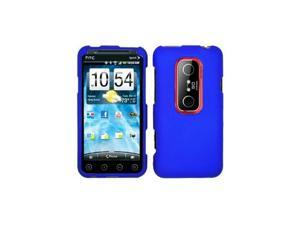 Blue Snap-On Hard Case Cover for HTC Evo 3D  /  Evo V