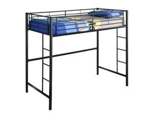 Sunset Metal Twin/Loft Bunk Bed - Black