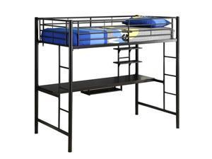Sunset Metal Twin/Workstation Bunk Bed - Black