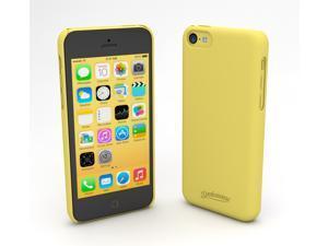Devicewear Metro: Ultra Light Weight Hard Shell/Soft Texture Yellow iPhone 5C Case - Retail Packaging (MET-IPH5C-YEL)