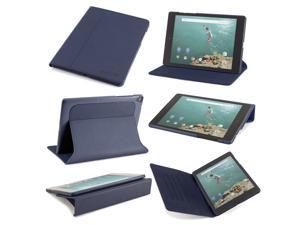 Slim Google Nexus 9 Version 1 (2014) case: The Ridge by Devicewear - Blue Vegan Leather with Six Position Flip Stand With Auto Sleep/Wake (Cover Compatible Only with Google Nexus 9)