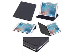 DEVICEWEAR Ridge for iPad Pro 12.9 Case, Thin Vegan Leather, 6 Position Flip Stand, Magnetic On/Off Switch for Apple iPad Pro / iPad Pro 12.9 inch Black
