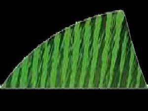 "Gateway Feather Rayzr 2"" Rw Feathers Flo Green Barred"
