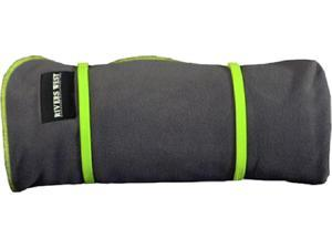 Rivers West Waterproof/Windproof Outdoor Blanket Charcoal With Green Accent