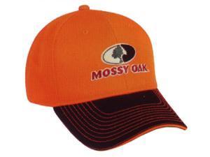 Outdoor Cap Company Mossy Oak Logo Cap Blaze Orange