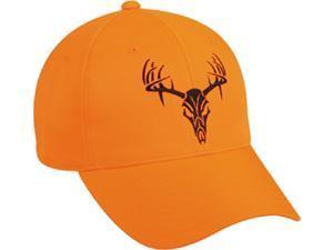 Outdoor Cap Company Blaze Orange W/Tribal Deer Skull Cap
