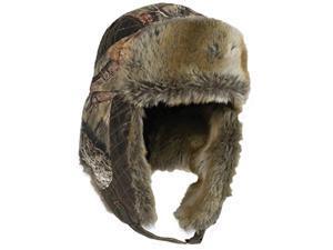 Outdoor Cap Company Mossy Oak Breakup Fleece Trapper Lined W/Fur Hat
