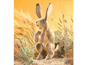 """Jack Rabbit Puppet 21"""" by Folkmanis Puppets"""