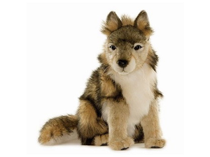 "Seated Wolf Cub 14.57"" by Hansa"