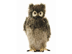 "Gray Owl with Moving Head 13.78"" by Hansa"