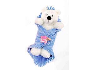 """Polar Bear Blanket Babies 11"""" by Fiesta"""