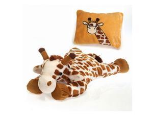 "Giraffe Peek-A-Boo Plush Pillow 19"" by Fiesta"