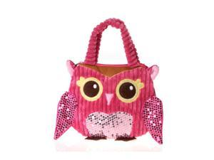 """Girly Pink Owl Hand Bag 10"""" by Fiesta"""
