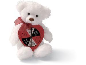 Valentines White Bear with Spinner by Gund
