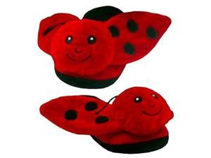 """Ladybug Slippers Sm 8"""" by Wish Pets"""