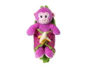 """Pink Monkey Blanket Babies 11"""" by Fiesta"""